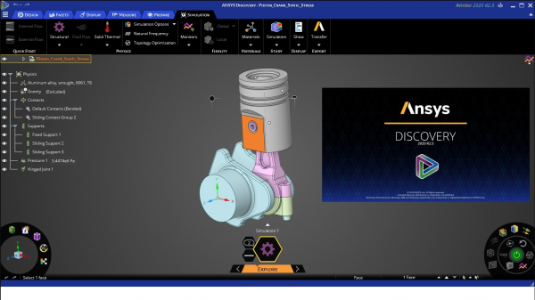 ANSYS Discovery 2020截图1