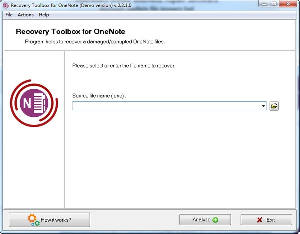 Recovery Toolbox for OneNote下载截图1