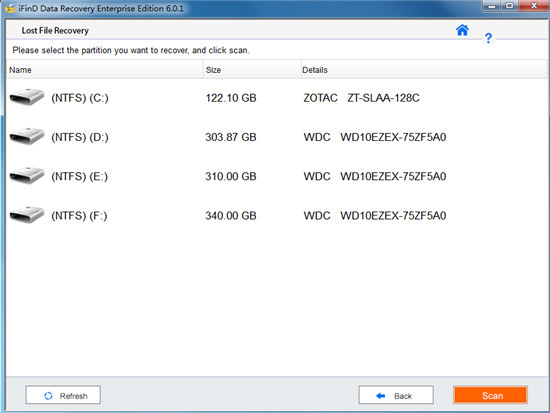 iFind Data Recovery Enterprise特色